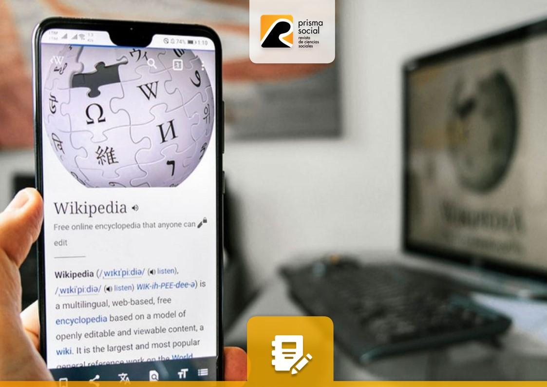 wikipedia en un smartphone