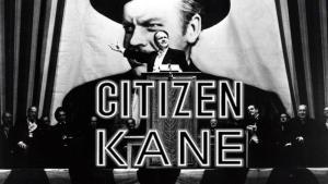 ciudadano kane película orson welles cartel en blanco y negro