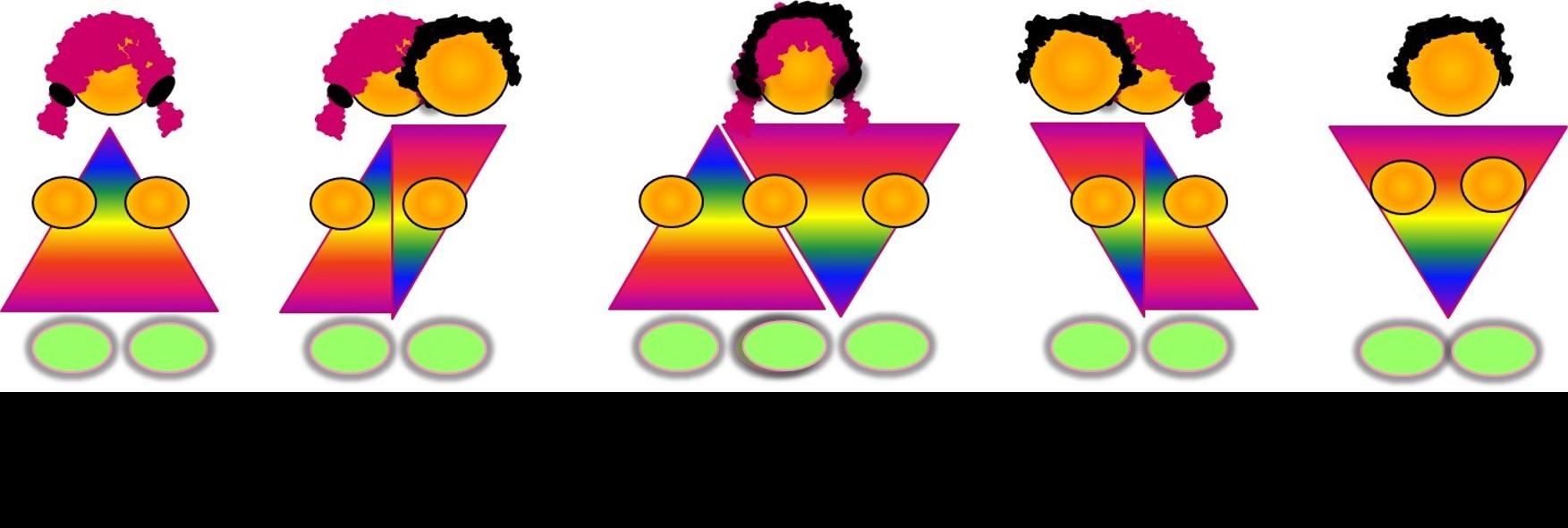 los cinco tipos de sexo que existen macho hembra intersexuales intersexuales con características masculinas e intersexuales con características femeninas
